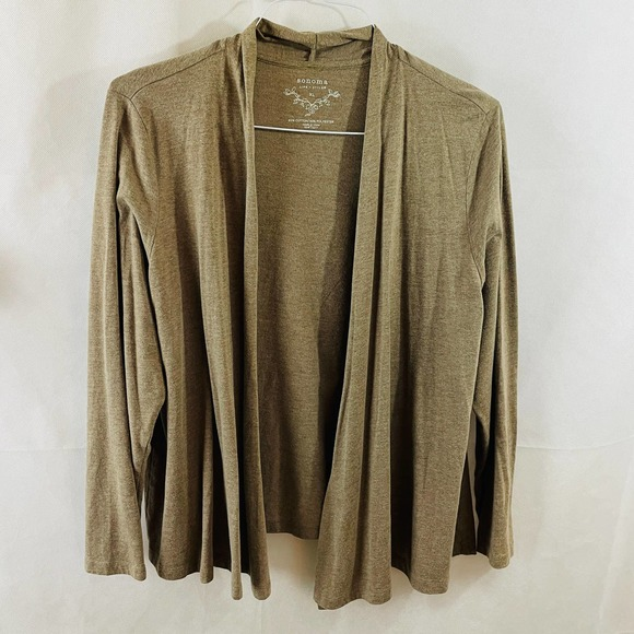 Sonoma Women's Brown Open Front Cardigan XL